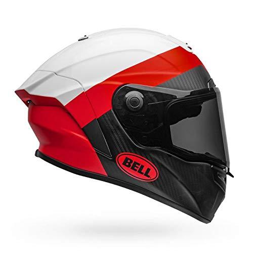 Casco Bell Race Star Flex Deluxe Small blanco/rojo