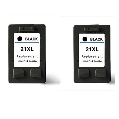 Huiyue Cartucho for HP 21 22 for HP21 Hp22 Cartucho for HP Deskjet F2180 F2200 F2280 F4180 F300 F380 380 D2300 Impresora Accesorios de Impresora (Color : 2 pc 21XL Black)
