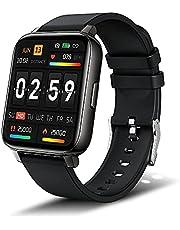 Smartwatch, 1,69'' Touch Schermo Fitness Tracker con Supporto di Ricarica, Orologio Smartwatch Uomo Donna con Sonno Cardiofrequenzimetro e Notifiche Messaggi, IP68 Impermeabile Contapassi Polso Nero