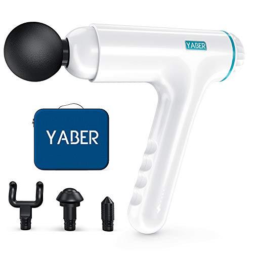 Massagepistole, YABER Massage Gun 12mm Tiefengewebe Muskel Massagegerät elektrisch Massager für Nacken, Rücken, Ergonomie Handlich 60°