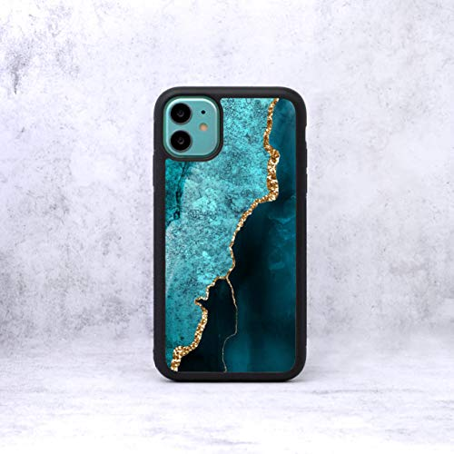 Marble Pattern Effect Phone Case/Cover Compatible with (iPhone 6 Plus / 6S Plus, Light Turquoise)
