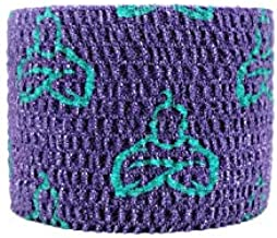 Liftgenie Thumb Adhesive Weightlifting Tape   Protects Thumbs When Lifting Weights & Prevents Knurling   Stretchy Adhesive Athletic Hook Grip Tape for Weightlifters (Purple, 3 Rolls Prime)
