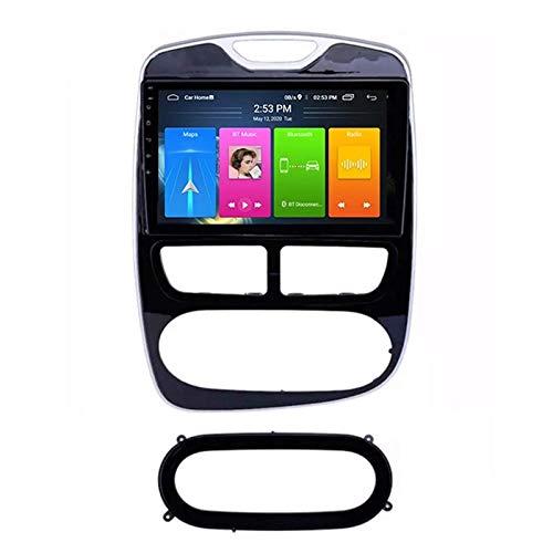 Reproductor MP5 estéreo para automóvil, Pantalla táctil de 9 Pulgadas Compatible con Bluetooth/navegación GPS/WiFi/USB/SWC/Mirrorlink / OBD2 / Dab + / Radio FM, para Renault Captur Clio 201