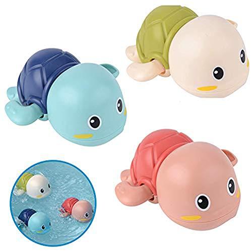 WENTS Baby Bathing Bath Vasca da Bagno Pool Toy Baby Bathing Clockwork Turtle Anatra Bath Toys for Bambini ,Toddlers Boys Girls 3 Pezzi