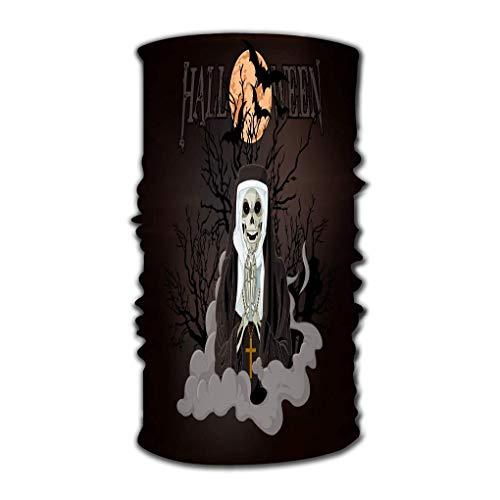 hdyefe Bandana Stirnband Outdoor Täglich Yoga Magic Headscarf Multifunktionale UV-Schutz Bundle Horror Nonne Halloween Aquarell