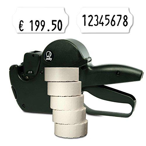 Preisauszeichner Set: Datum Etikettierer Jolly C8 für 26x12 inkl. 7.500 HUTNER Preisetiketten weiss leicht klebend | etikettieren | HUTNER