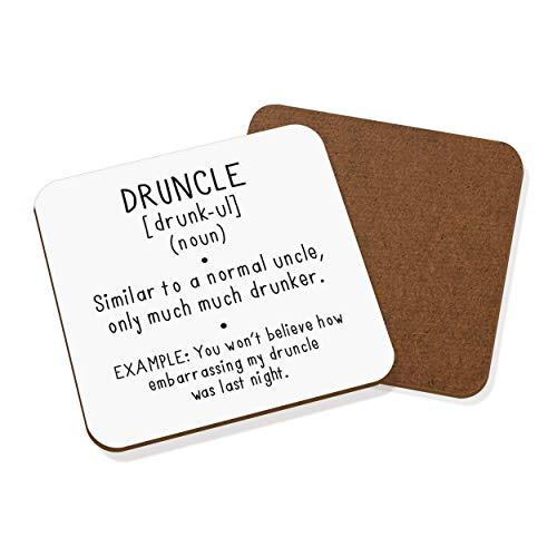 Druncle Drunk Uncle Definition Untersetzer Getränkeuntersetzer