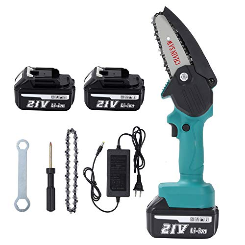 Seesii 4inch Mini Electric Chainsaw, Cordless Chain Saw Electric Pruning...