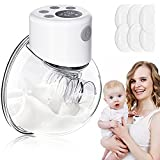 Hands Free Breast Pump Electric, Wearable Breast Pump, Portable Spill-Proof Pain Free Silent Breastfeeding Pump with Touch Display, 3 Mode & 9 Levels, Memory Function, Gifts for Woman