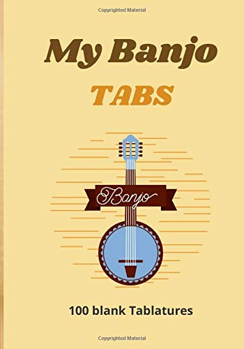 My Banjo TABS: Manuscript Music Paper for 5-String Banjo - 100 pages with chords diagrams and tablatures - Big Format - Notebook Sheet Paper For Composition