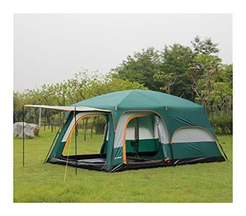 Youpin 10 personas grandes tiendas militares al aire libre tienda de campaña 2 capas 2 habitaciones Tienda familiar fácil de construir resistente antimosquitos contra el viento