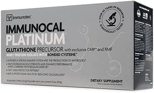 Max 46% OFF Immunotec Immunocal Platinum High quality new pouches 30