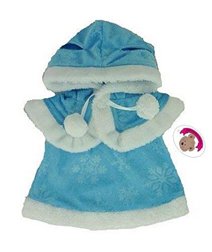 Build your Bears Wardrobe kleding voor teddyberen, 38,1 cm, jurk en cape, blauw