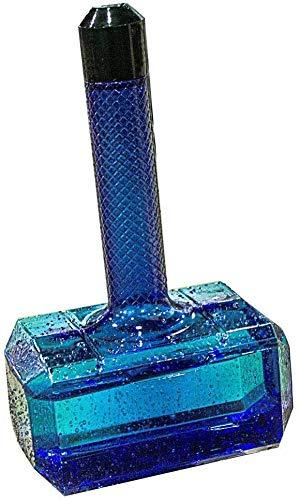 MLLI Gran Capacidad 1.7L Portátil Deporte Gimnasio Entrenamiento Viaje Beber Gran Martillo Forma Botella De Agua Tapa Fitness Hervidor,Azul
