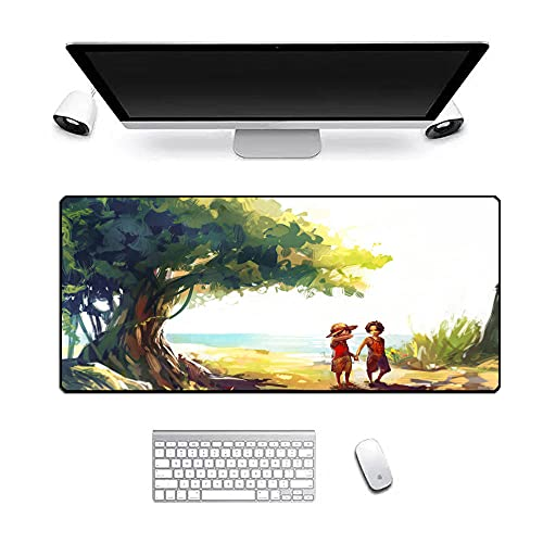 XXL Gaming Mouse Pad XXL Large Large Size Mousepad - Improves Accuracy and Speed - for Mouse and Keyboard Anime One Piece 900x400x3mm
