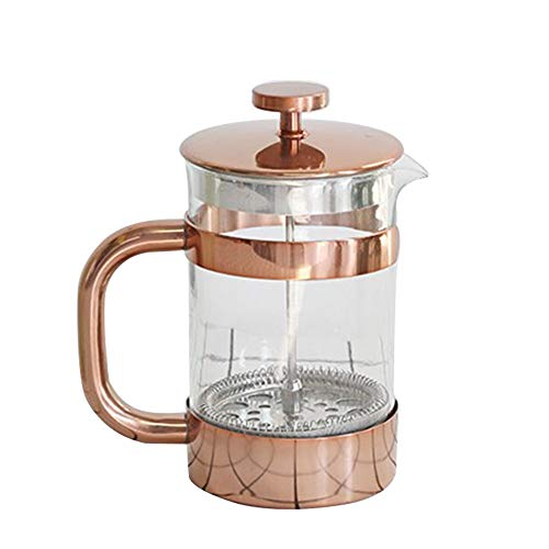 Fantastic Prices! Opbsite French Press Coffee Maker Tea Pot Glass French Press Pot Stainless Steel F...