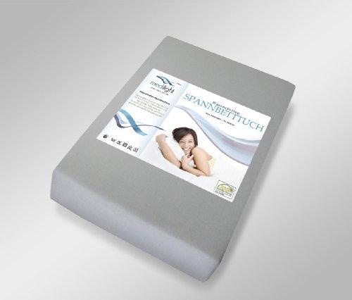 medilight Wasserbetten-Spannbetttuch passend für größe Bettgrößen 180-200 x 200-220cm (silber)