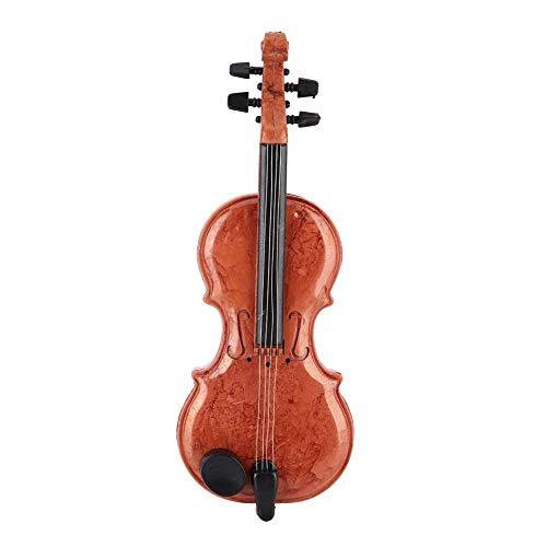 Caja de música Forma de violín Tamaño Mini Personalidad de plástico Obra de Escritorio Juguete Ornamento para niños Amigos Regalo de cumpleaños
