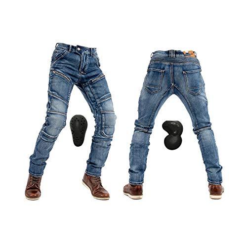 YXYECEIPENO Vaqueros de Moto Cuatro Estaciones Pantalones de Moto para Mujer 4 Protectores en Rodillas y Caderas, Desmontables Adecuado para Montar a Caballo y al Aire Libre La Mejor opción de