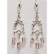 Angel Aura Quartz Silver Hoop Earrings ~ Statement Jewelry ~ 15th Anniversary Gift for Her ~ Large 2 Inch Raw Quartz Hoops