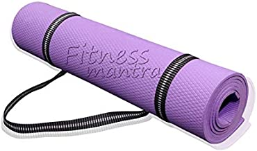 Fitness Mantra® Yoga Mat for Gym Workout and Yoga Exercise with Strap, Anti-Slip Yoga Mat with Strap for Men & Women Fitne...