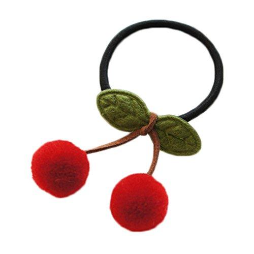 Chytaii Élastiques à Cheveux Cravate de Cheveux Bandeau à Cheveux Accessoire de Cheveux Coiffure pour Filles Décoration de Cerise