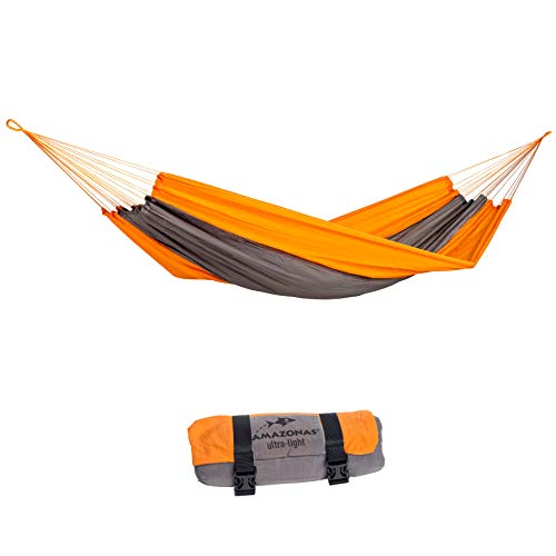 AMAZONAS AZ-1030160 Ultra-Light Silk Traveller Techno Amaca da Escursione, Arancione
