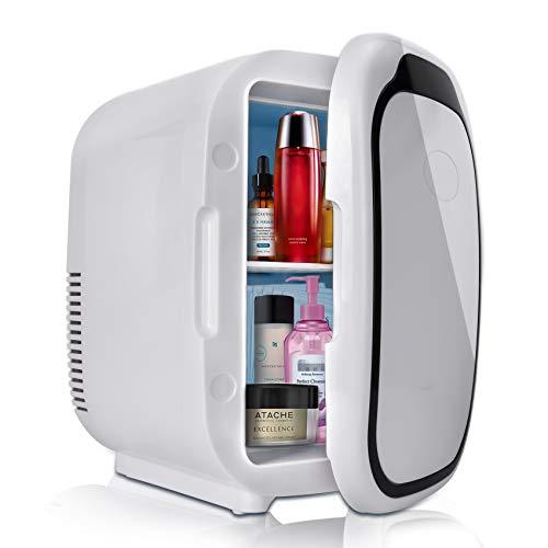 Mini Frigo Portatile Frigorifero Capacità 6L con Funzione Caldo Freddo per Auto Camper Casa Ufficio e Dormitori 12/24V DC
