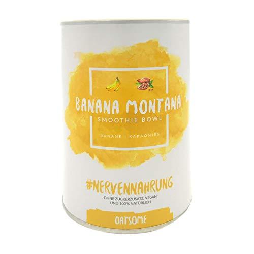 Banana Montana - Smoothie Bowl - Nährstoff Frühstück mit 100% natürlichen Zutaten & ohne Zusatzstoffe und raffinierten Zucker - Lange satt mit nur 200 kcal - 400g