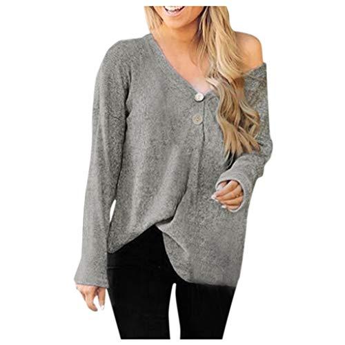 Blusas para mujer, otoño, talla grande, torcidas, para mujer, otoño, manga larga, con capucha, letras y capucha, suéteres con capucha, talla S a XXXXL Morado gris S