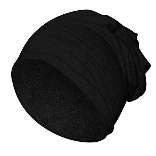 SoulCats® Beanie mit Fleece-Inlay unifarben, Farbe: Schwarz