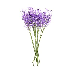 YUNHE 10pcs Artificial Fake Gypsophila Silk Flower DIY Floral Bouquets Wedding Arrangement Home Decoration