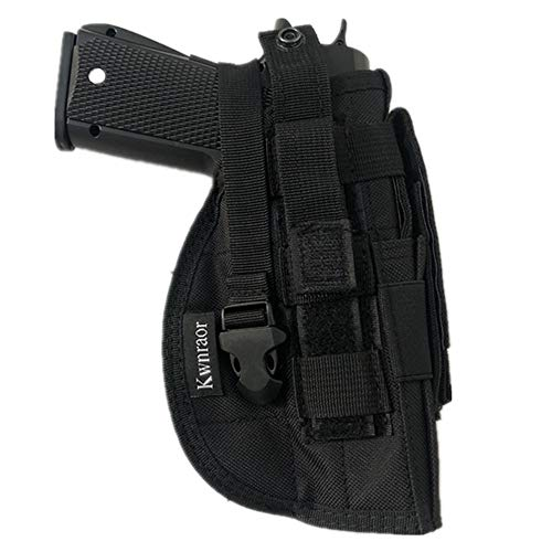 Pistol Molle Holster, Glock Holster Universal Pistol Holster for S&W M&P Shield Glock 1911 45 92 96.(Black)