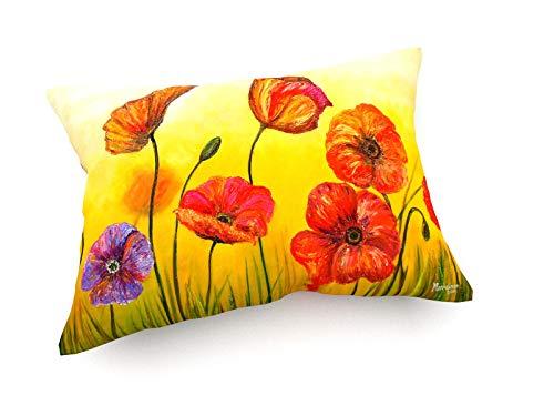 weewado Emerson Marreiros - Flores De Peluche 60x40 cm Cojines del sofá - Arte, Imagen, Pintura, Foto - Flowers