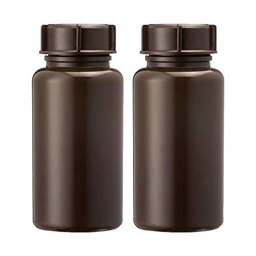 3Wthings (2er Pack) Weithalsflasche aus LDPE mit Schraubverschluss, 500ml, Farbe: Braun (Lichtdicht)