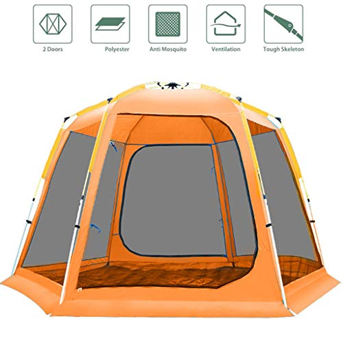 WEIE Family Camping Tents Camping Tents, Dome Tents 8-9 Person, Fully Automatic Pop-up Tents Large, Tunnel Tents for Camping Waterproof, for Garden,...