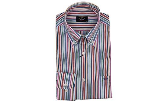 Paul & Shark Luxury Fashion Herren P20P3062015 Multicolour Baumwolle Hemd | Frühling Sommer 20