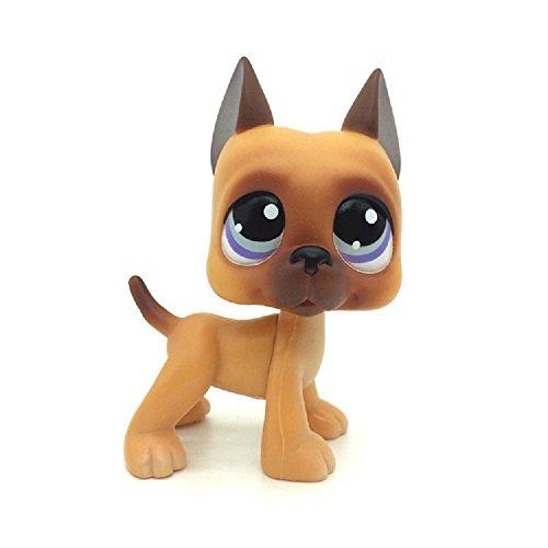 Rare LPSs Brown Great Dane Dog Puppy Blue Eye Toy #244
