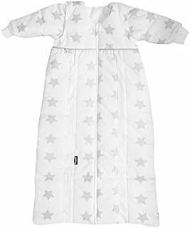 Kinderschlafsack /ärmellos Baby-Schlafsack atmungsaktiv Design:Sterne grau Gr/ö/ße:80 leichter Schlafsack f/ür Jungen und M/ädchen Odenw/älder Prima Klima Thinsulate