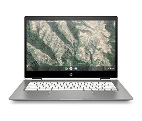 HP Chromebook x360 14b-ca0000ng (14 Zoll / Full HD IPS Touch) 2in1 Chromebook (ChromeOS, Intel Celeron N4000, 64GB eMMC, inkl. 100GB Speicher bei Google One für 1 Jahr, Intel UHD Grafik) silber