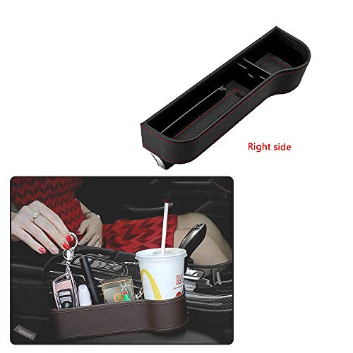 Integrity.1 Autositz Aufbewahrungsbox(Beifahrersitz), ABS Harz Rohstoffe Spritzguss hochwertige Leder Aufbewahrungsbox, Macht das Auto sauber und bequem (Right)