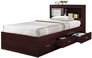 Pemberly Row Twin Captain Storage Bed in Mahogany