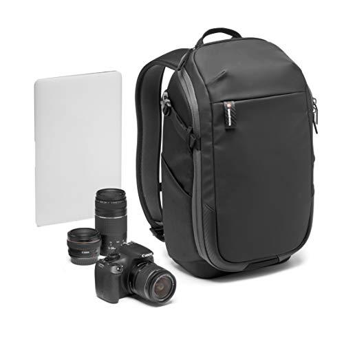Manfrotto MB MA2-BP-C Advanced² Compact - Mochila para cámara y portátil, para cámara sin Espejo + Objetivo estándar, con Sistema Divisor Acolchado Intercambiable, Enganche trípode, Tela revestida