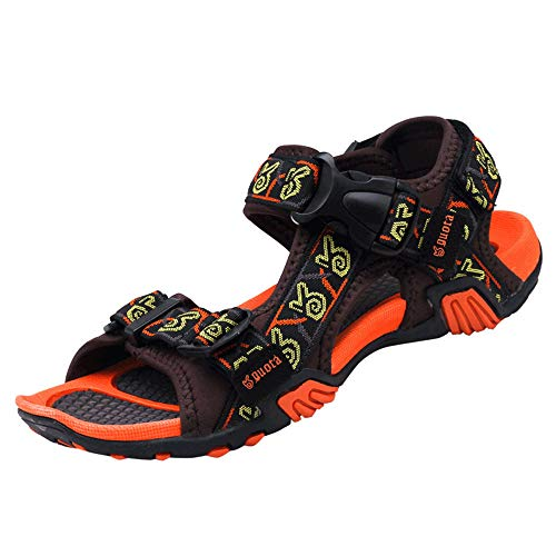 ALLAK Men's Sport Sandals Maya Trail Outdoor Water Shoes (Coffee red-Lable 43/9 D(M) US Men)