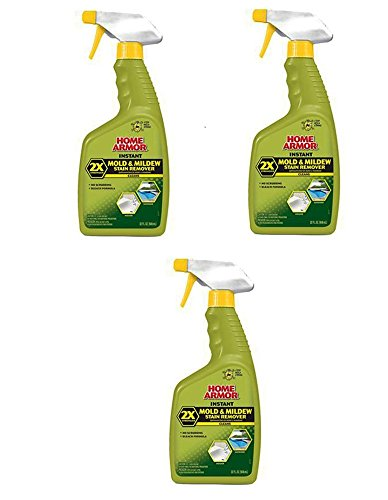 Mold Armor Home FG502 Instant Mold and Mildew Stain Remover, Trigger Spray 32 Fl Oz, Pack of 3