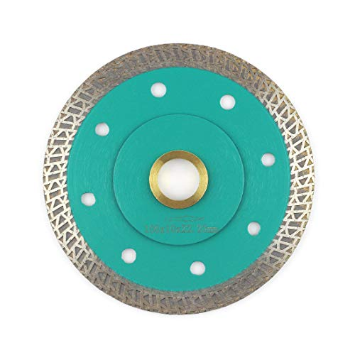"""Porcelain Blade,Stylish Y&I Tile Blade Super Thin Ceramic Diamond Saw Blades for Grinder Tile Cutter With Adapter 7/8"""",20mm,5/8 Inch Abor (4 inch)"""