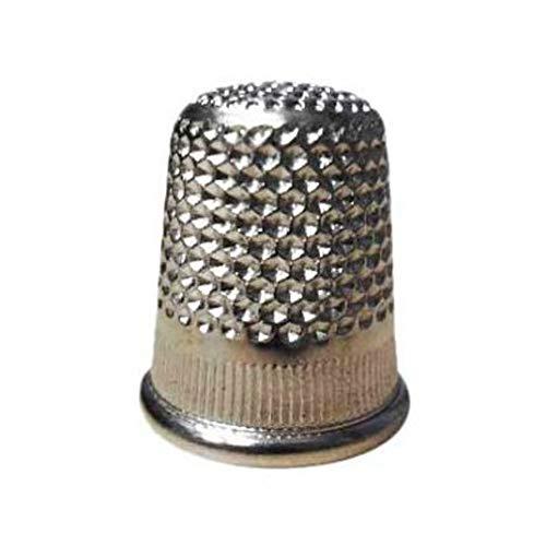 Dedal metálico. 1 Unidad. Protector dedos