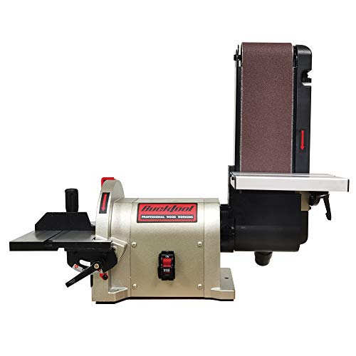 BUCKTOOL BD4801 Bench Belt Sander 4 in. x 36 in. Belt and 8 in. Disc Sander with 3/4HP Direct-drive Motor