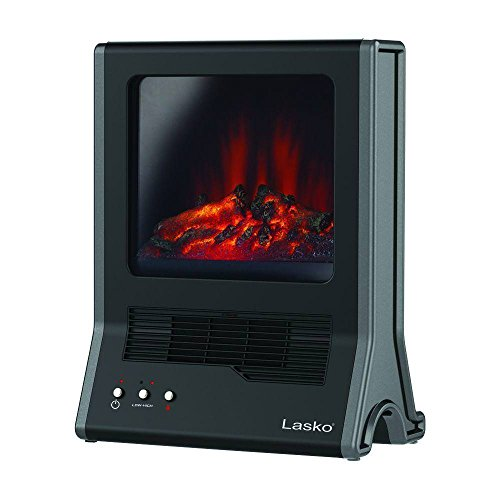 Lasko CA20100 Ultra Ceramic Fireplace Heater, Black