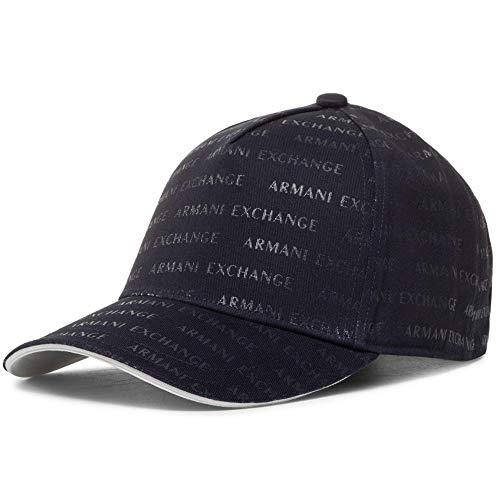 Armani Exchange A|X Herren All Over Logo Print Baseball Hat Mütze, Notte-Dunkelblau, Einheitsgröße